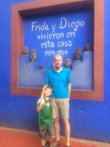 Ryan and Kary at Frida Kahlo's house